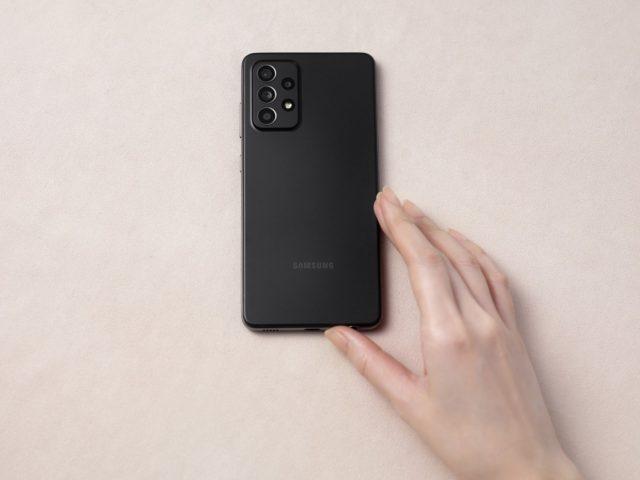 Galaxy A52 handson black