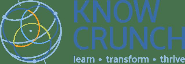 KnowCrunch logo blue transparent